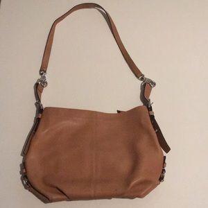 Coach Leather Tan Handbag Medium to Large Size
